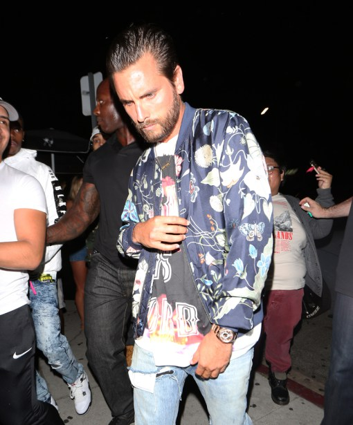 Scott Disick goes to The Nice Guy Club for Kylie Jenner's 19th Birthday Party Celebration in West Hollywood